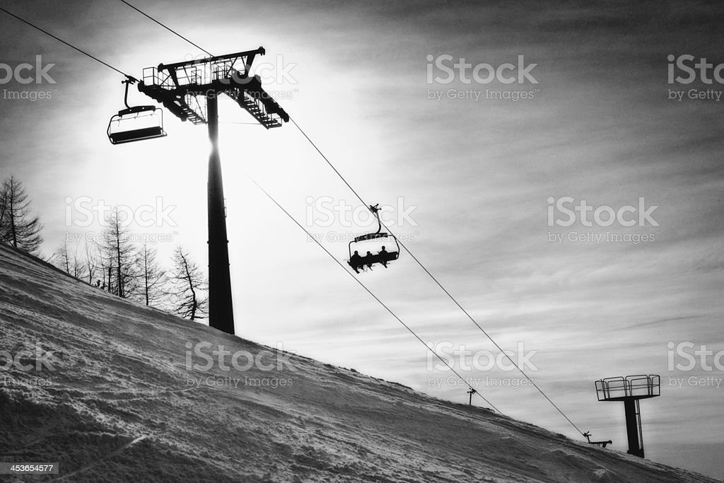 Chair Lift stock photo