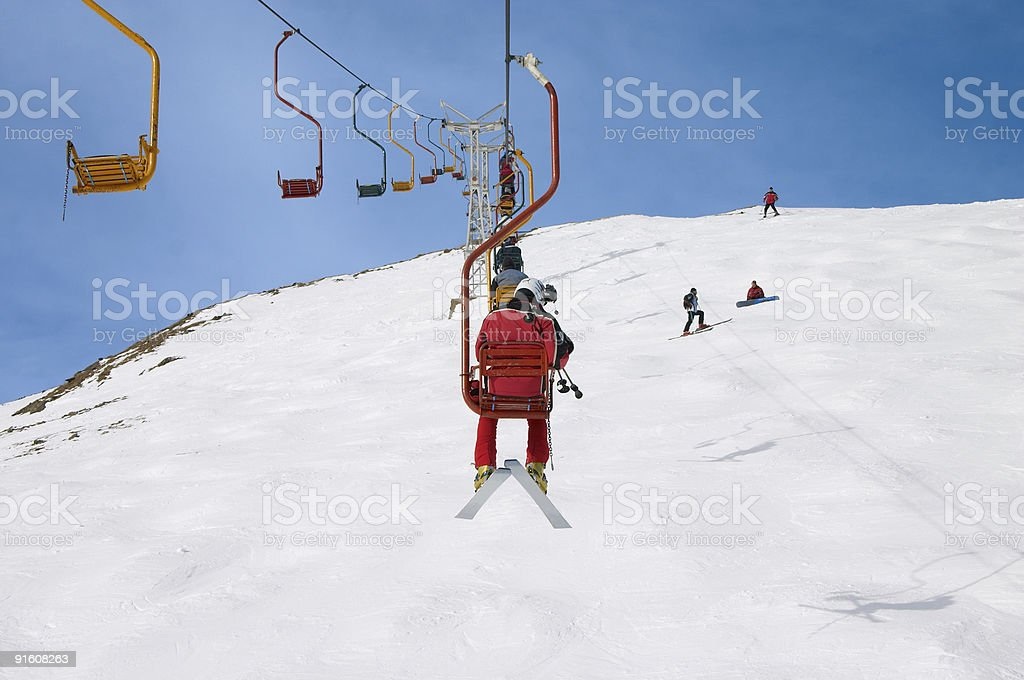chair lift royalty-free stock photo