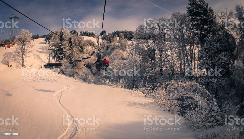 Chair lifts stock photo