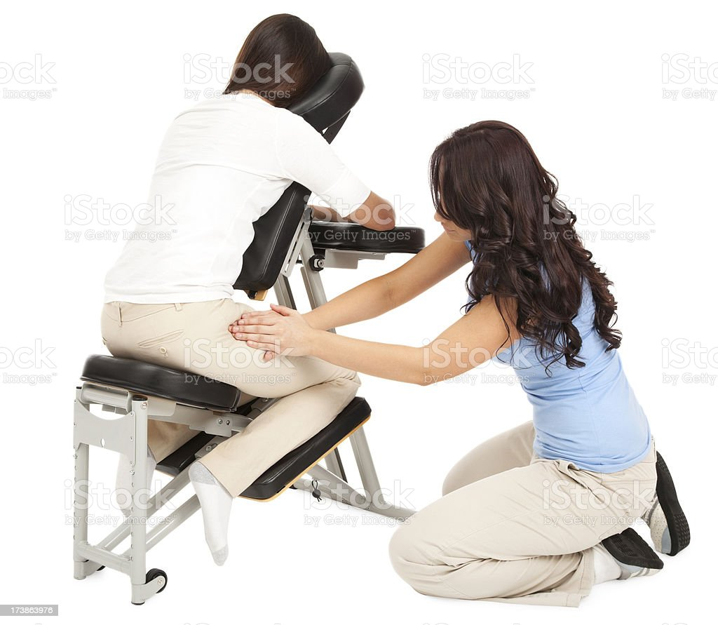 Chair Massage royalty-free stock photo