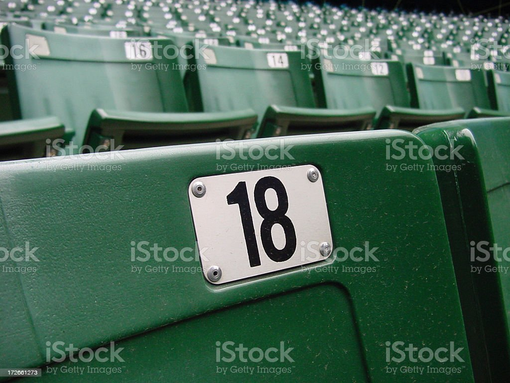 Chair number 18 royalty-free stock photo