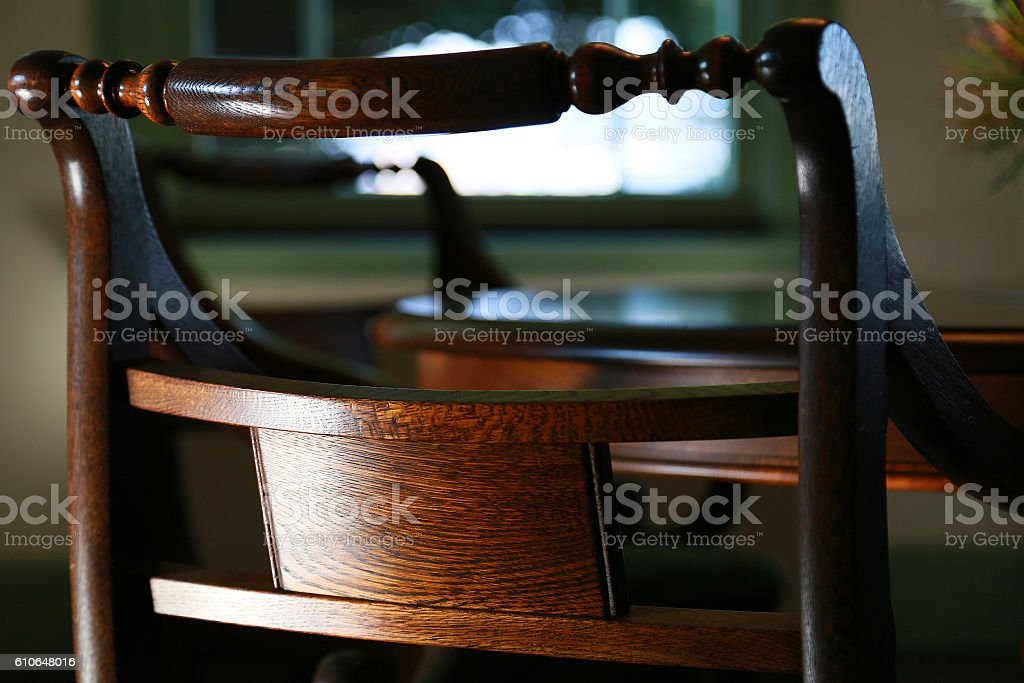 Chair of the grain of wood design foto de stock libre de derechos