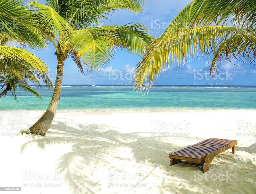 Chair on beautiful island stock photo