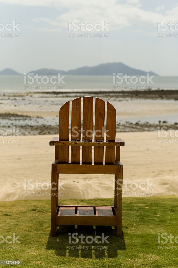 Chair on the Beach royalty-free stock photo