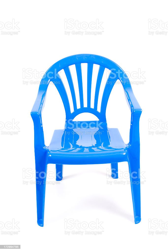 Chair on white background. stock photo
