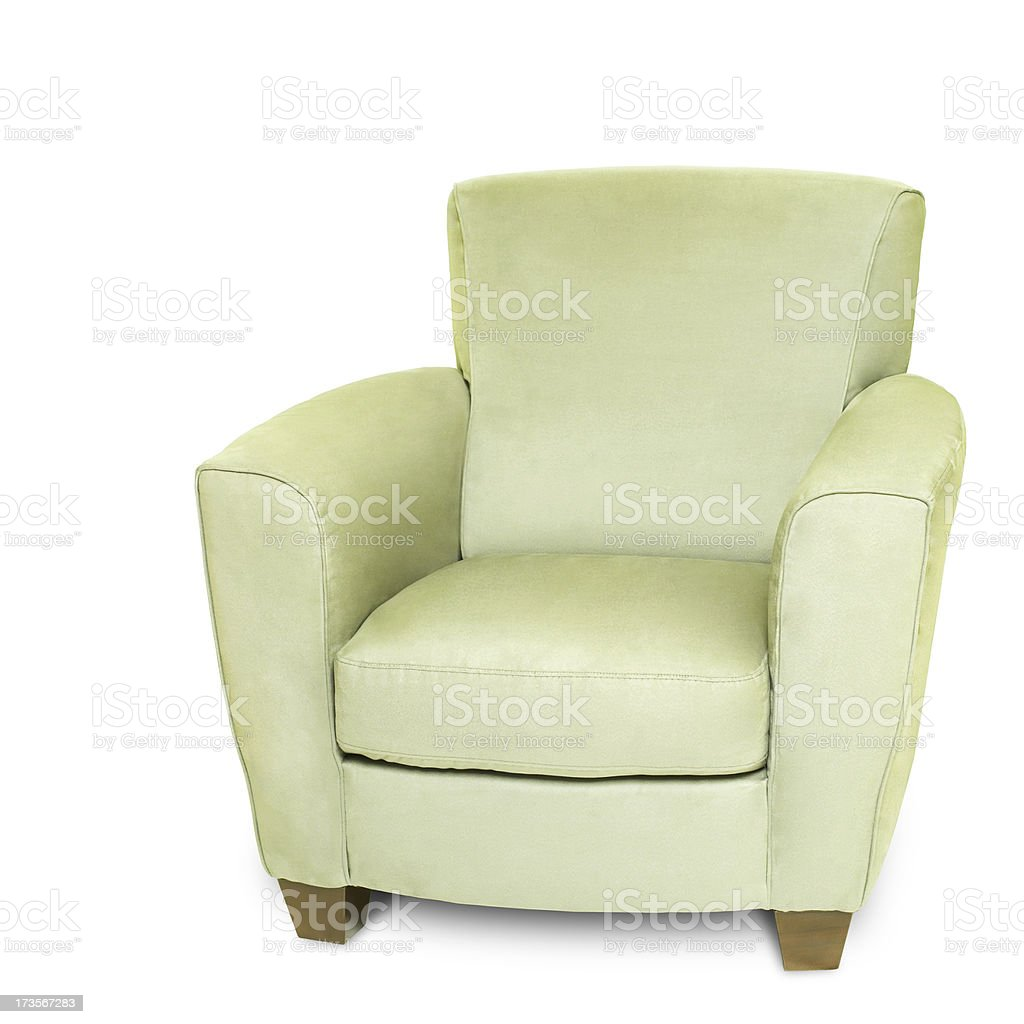 Chair on White Background royalty-free stock photo