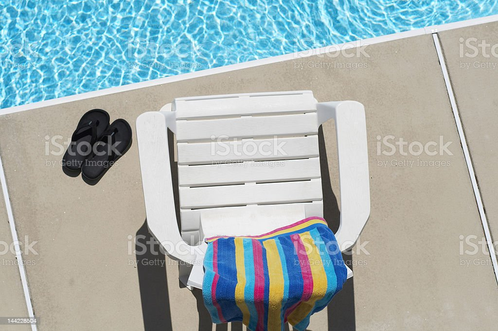 chair poolside royalty-free stock photo