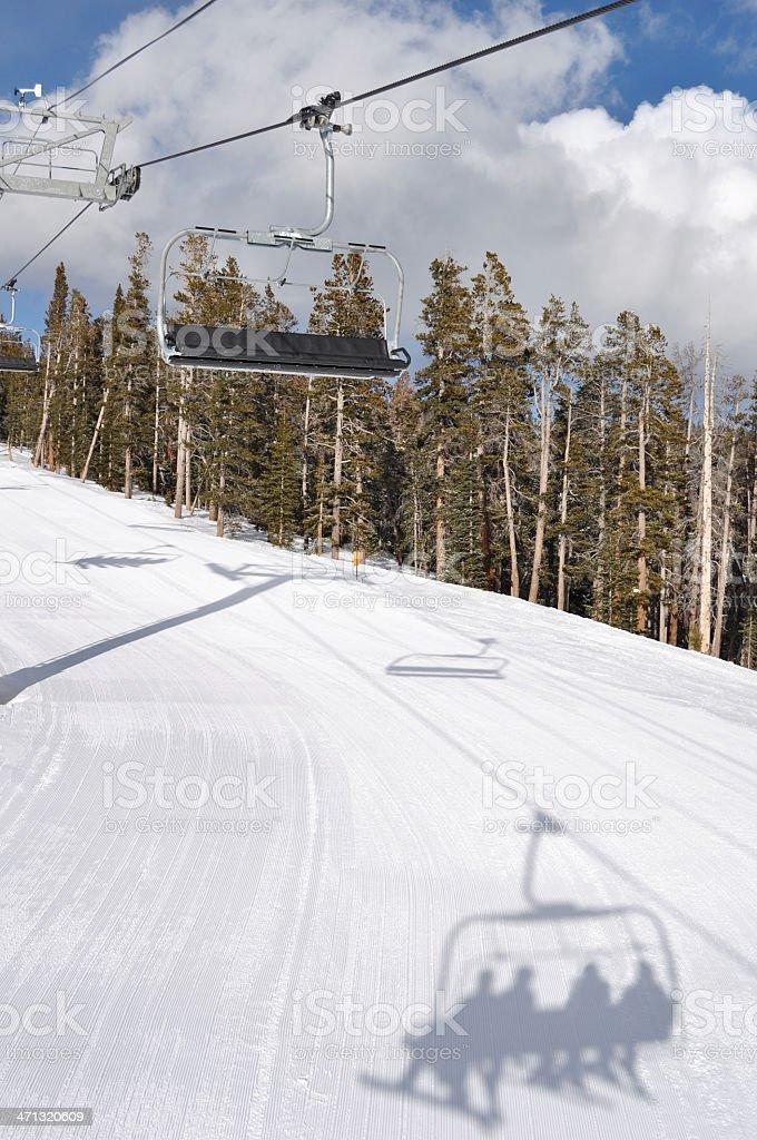 Chair Ski Lift royalty-free stock photo