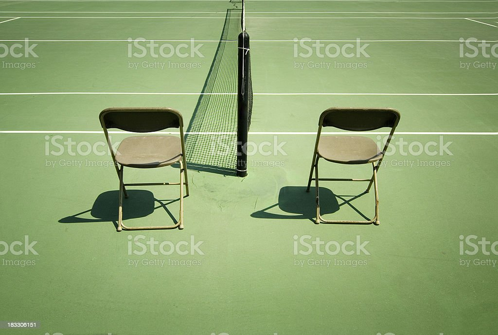 Chair umpires royalty-free stock photo