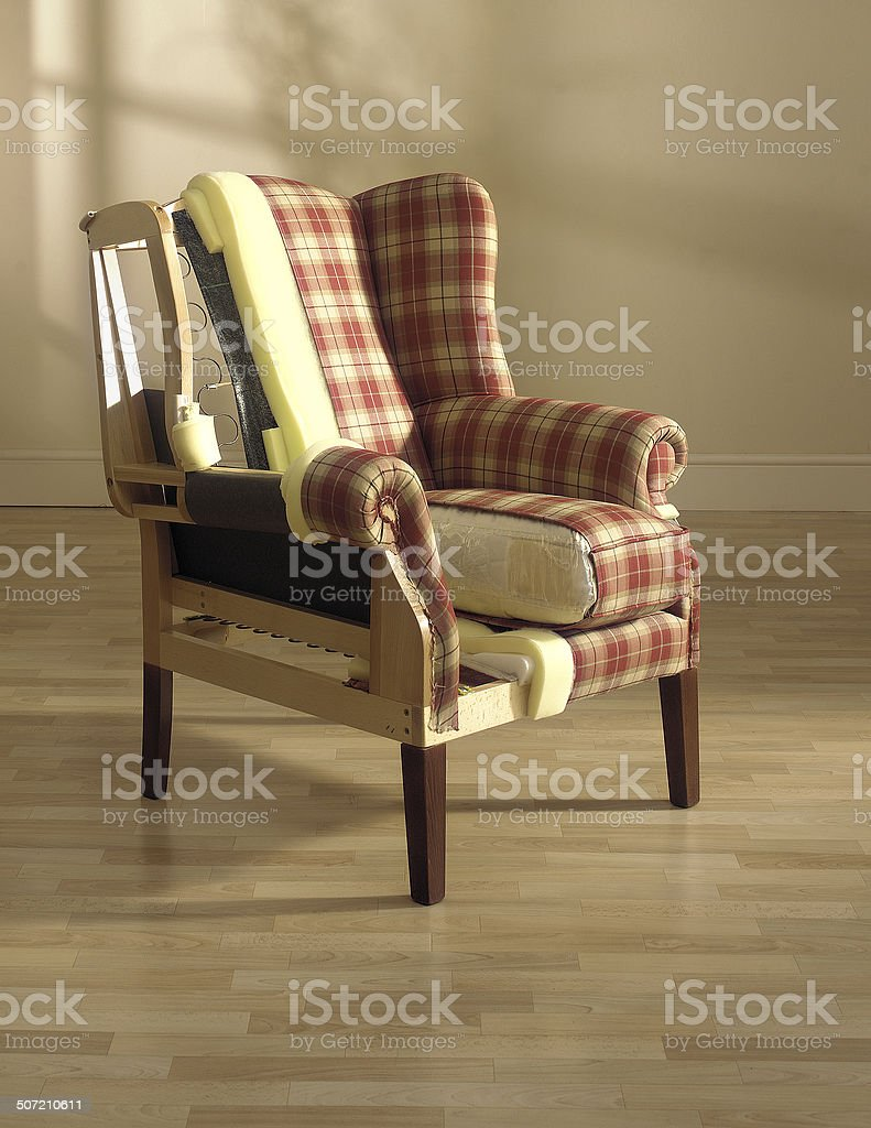 chair upholstery stock photo