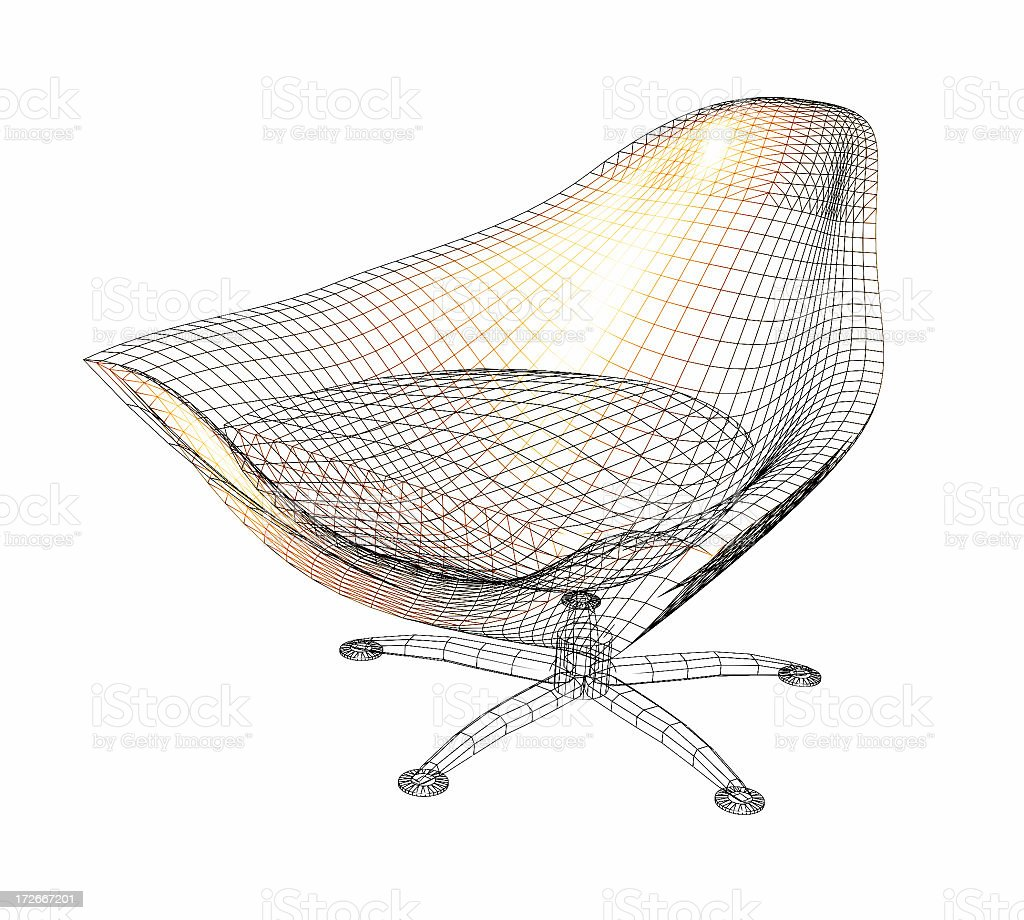 Chair Wireframe stock photo