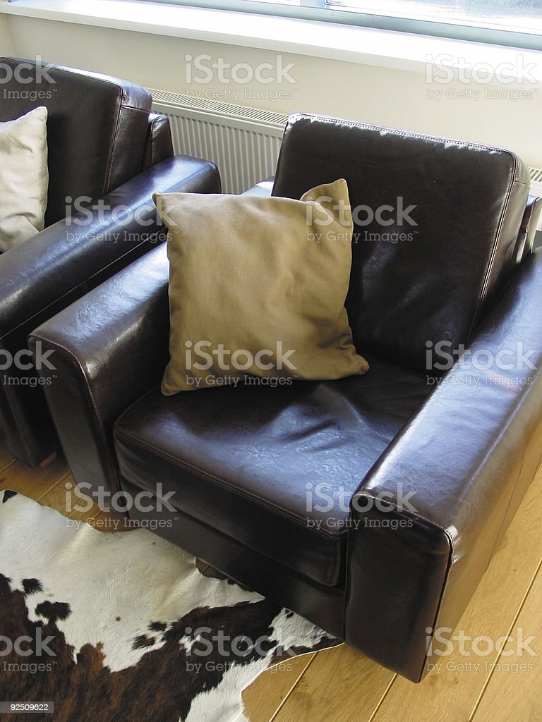 chair with pillow royalty-free stock photo