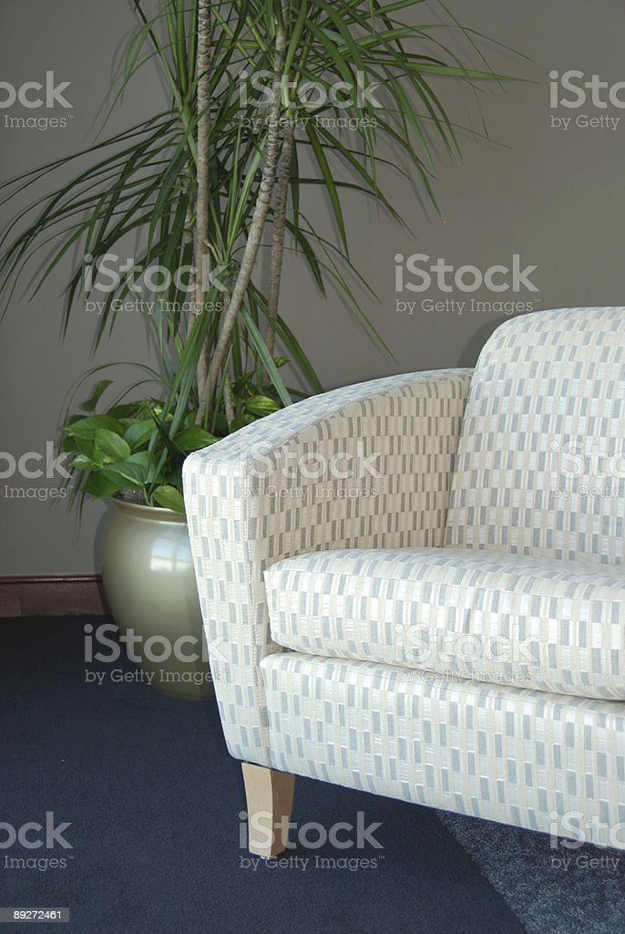 Chair with plant stock photo