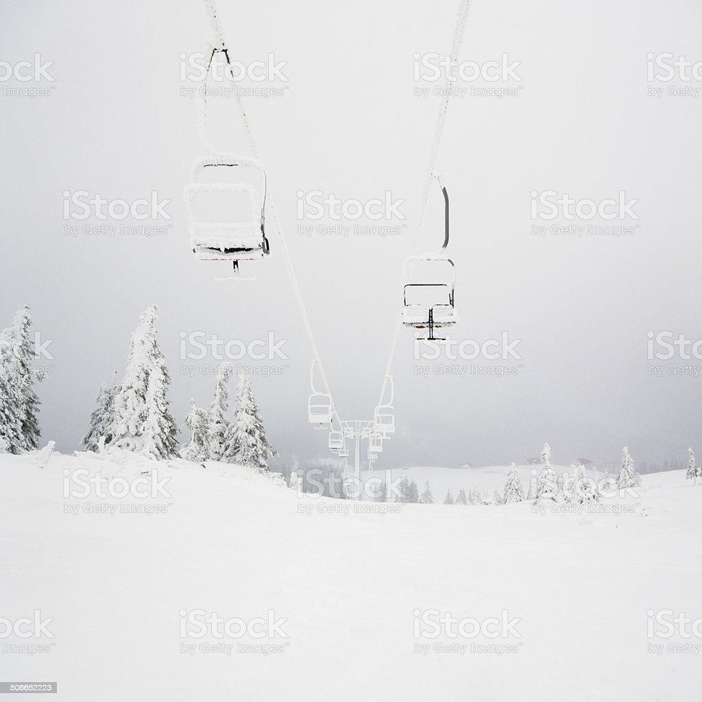 Chairlift foto de stock libre de derechos