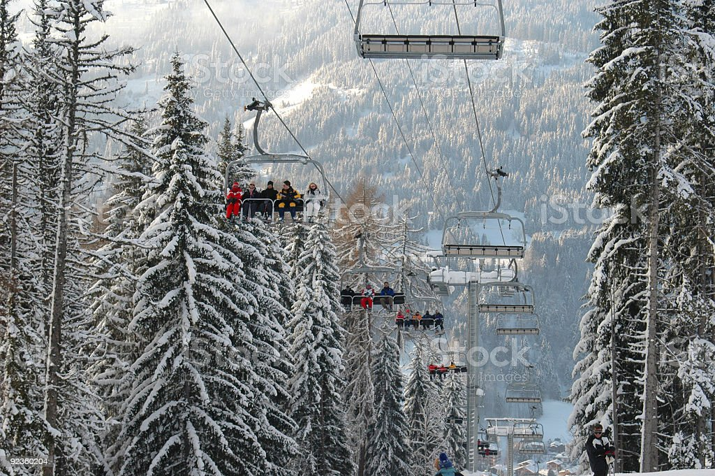 Chairlift royalty-free stock photo