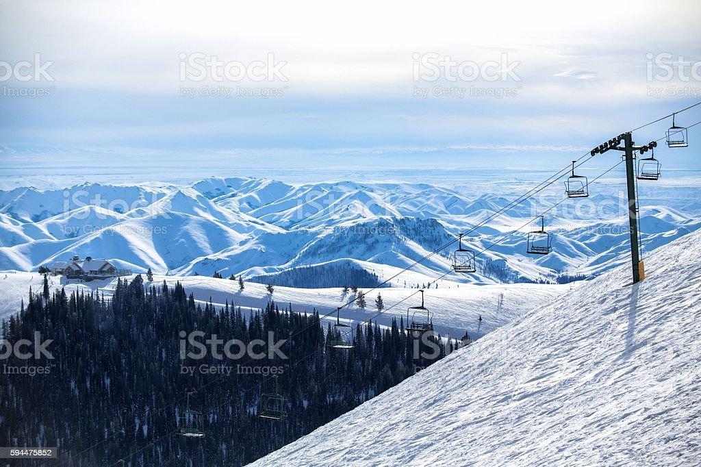 Chairlift - Sun Valley, Idaho stock photo