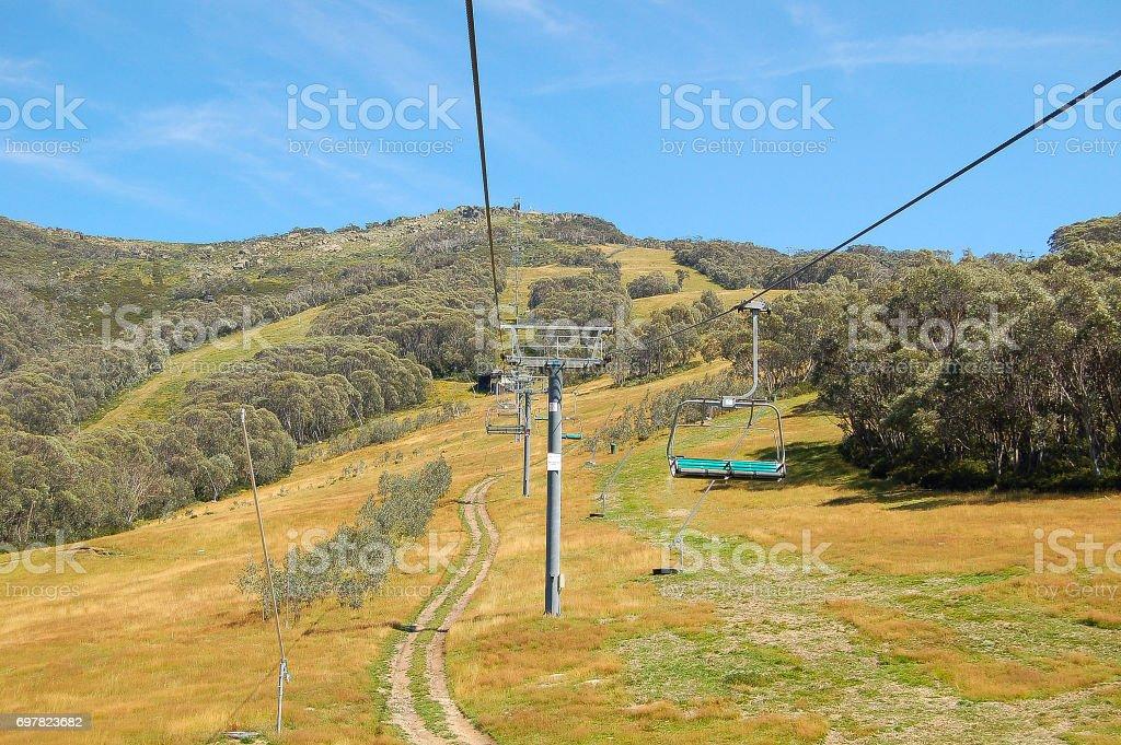 Chairlift to Mt Kosciuszko - Thredbo stock photo