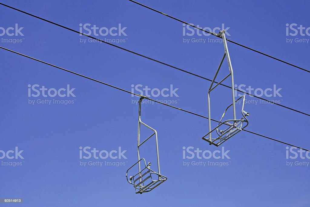 Chairlifts stock photo