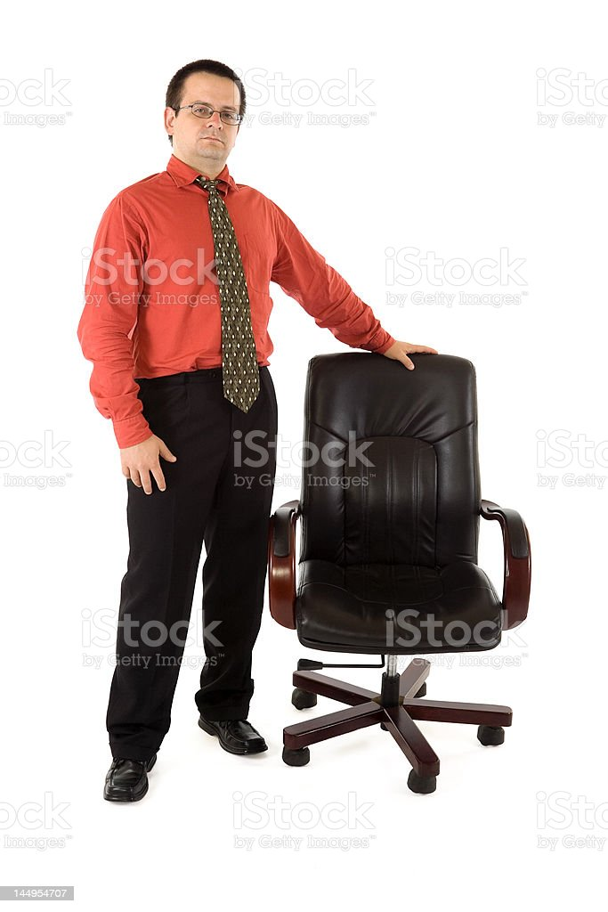 Chairman and his chair royalty-free stock photo