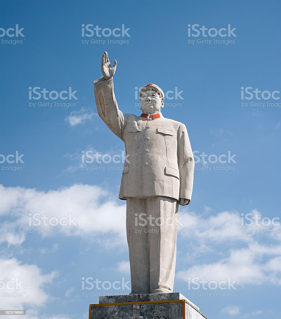 Chairman Mao Zedong of China Statue stock photo
