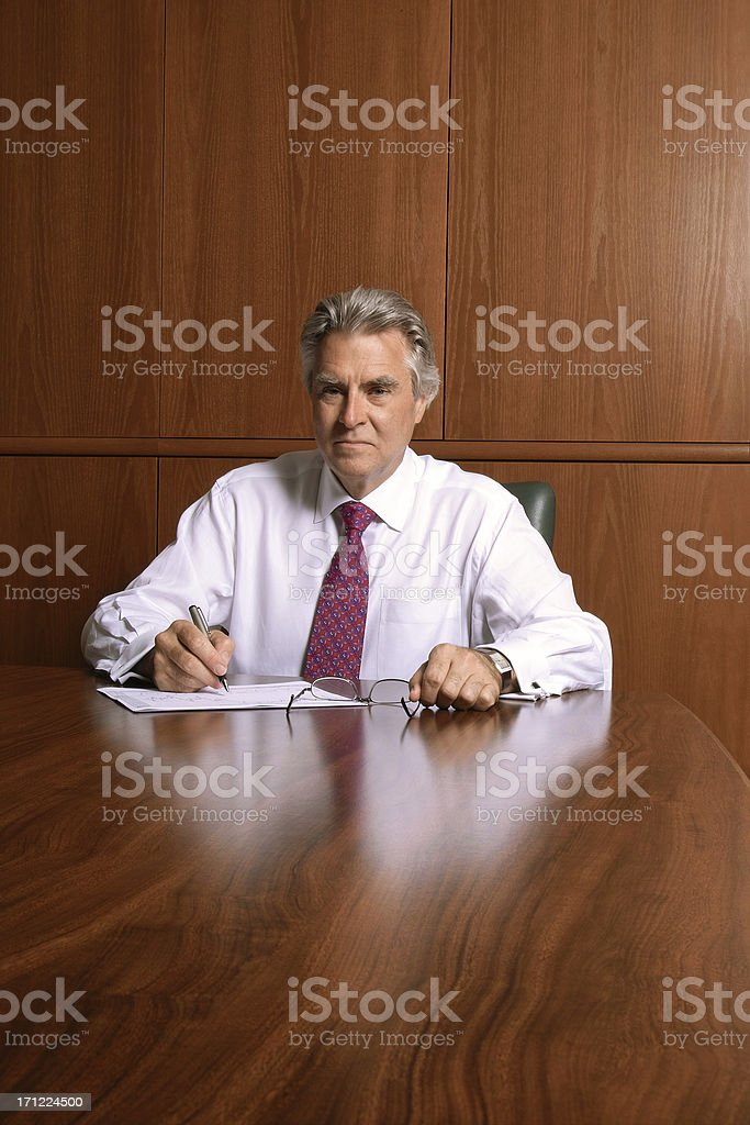 Chairman of The Board royalty-free stock photo