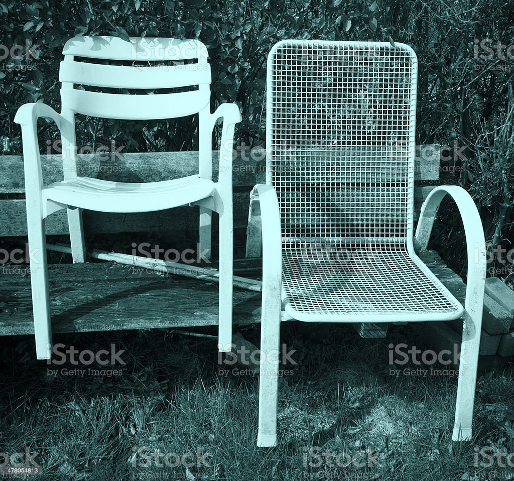 Chairs and tables. royalty-free stock photo