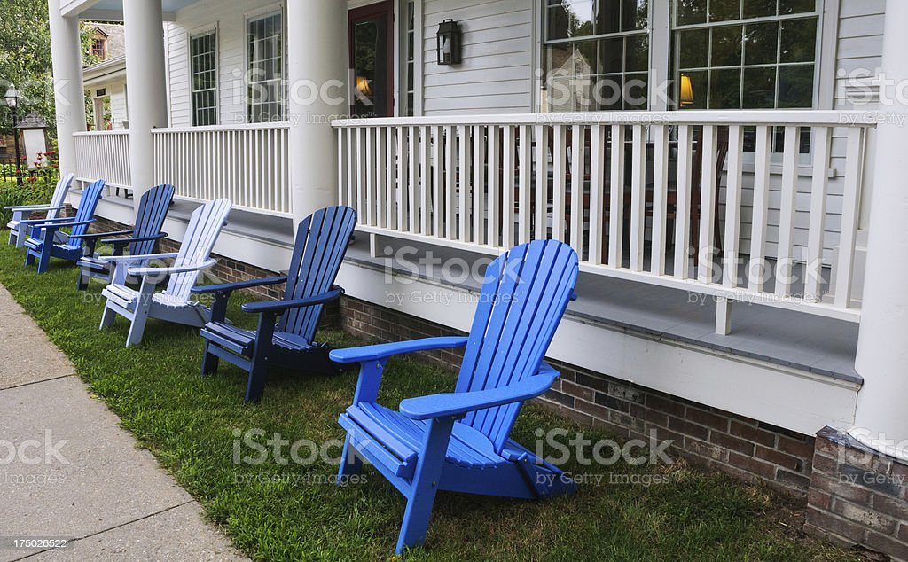 Chairs at the Inn stock photo