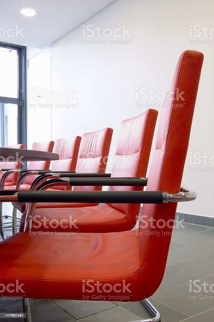 Chairs in a conference room royalty-free stock photo