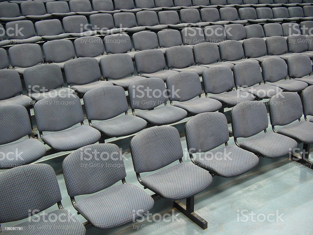 Chairs in a theater stock photo