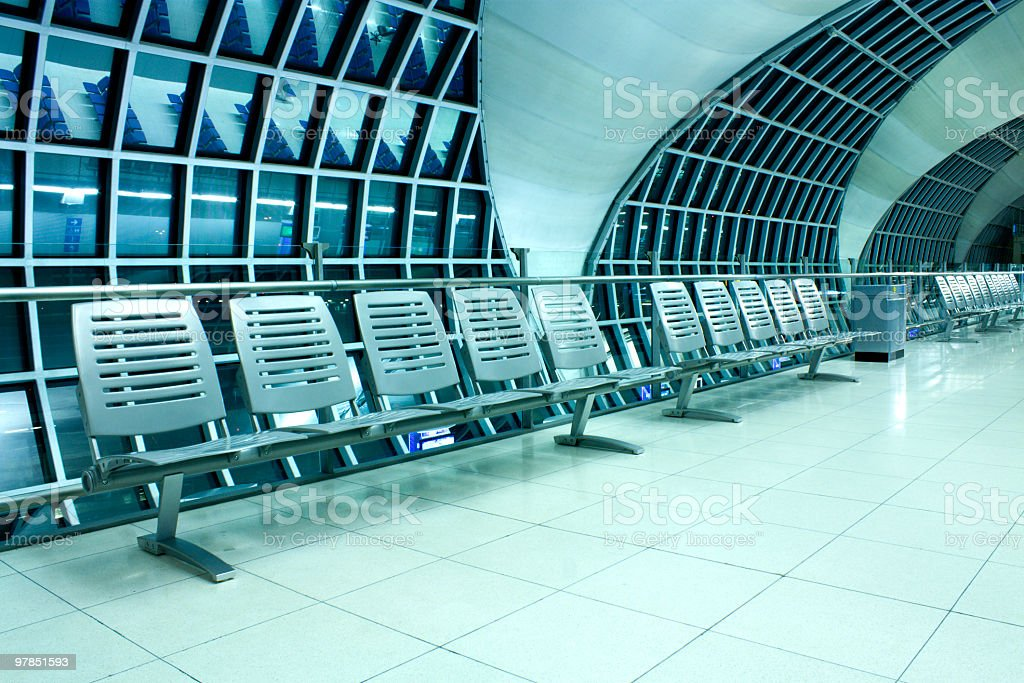 Chairs in airport royalty-free stock photo