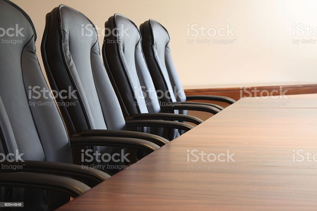 Chairs in Boardroom stock photo