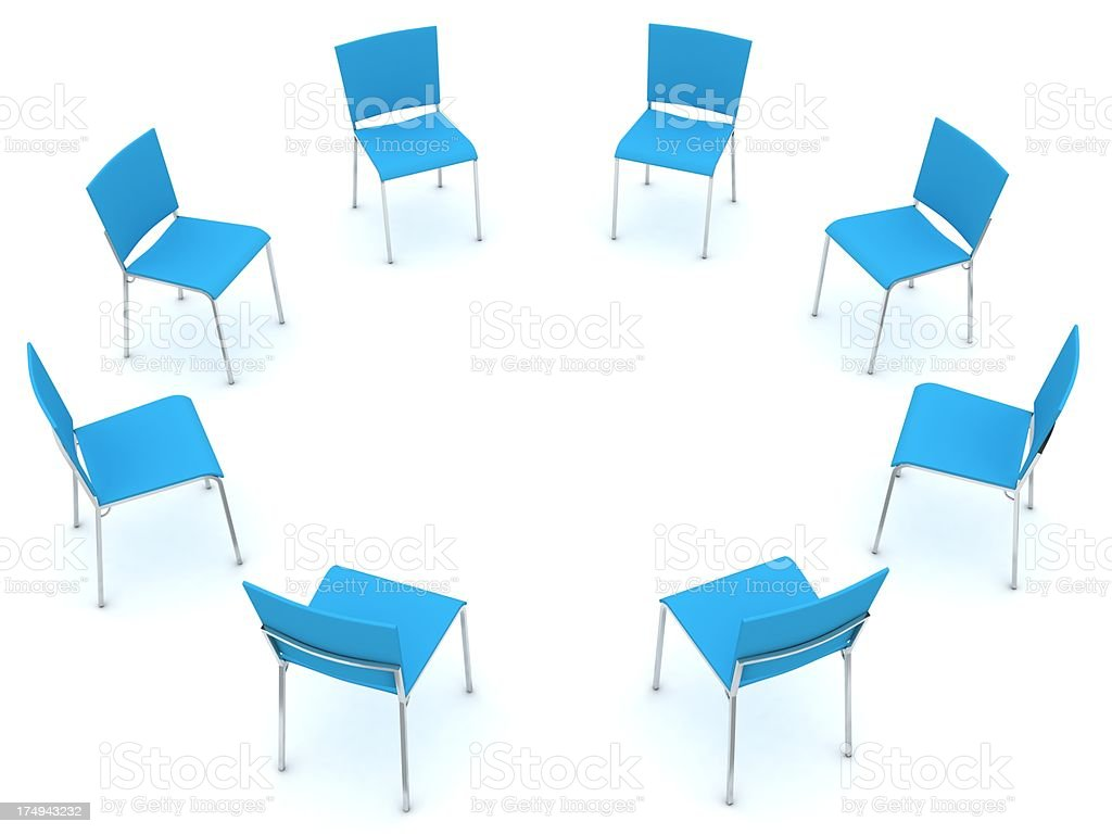 Chairs in Circle stock photo