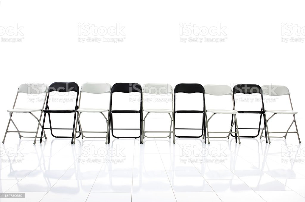Chairs in empty room. royalty-free stock photo