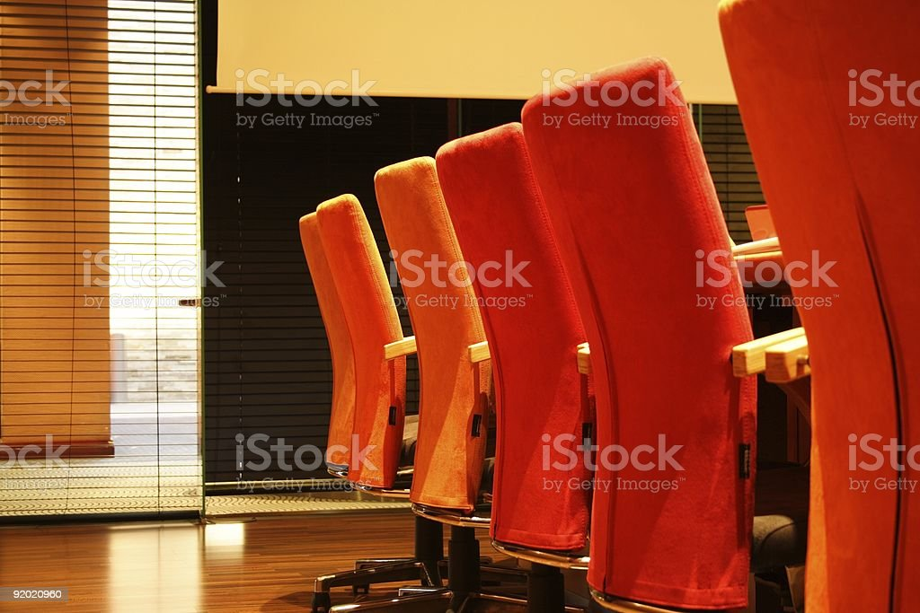 Chairs in Executive Boardroom royalty-free stock photo
