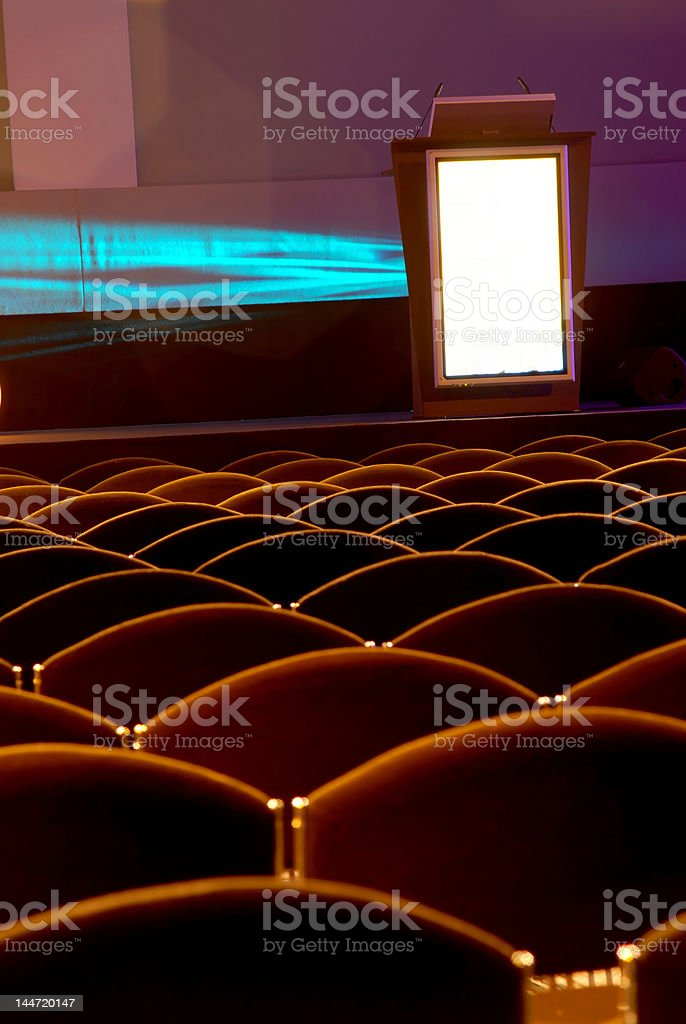 chairs in front of the pulpit royalty-free stock photo