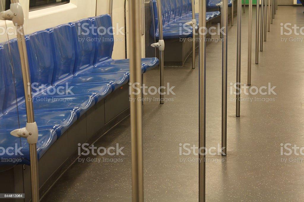 Chairs in metro stock photo