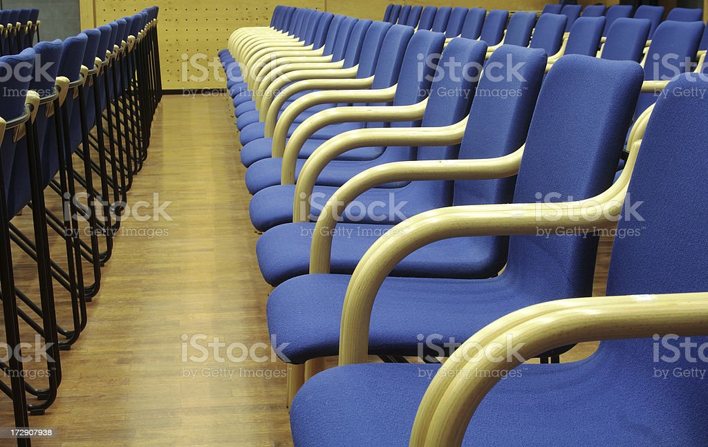 Chairs in row royalty-free stock photo