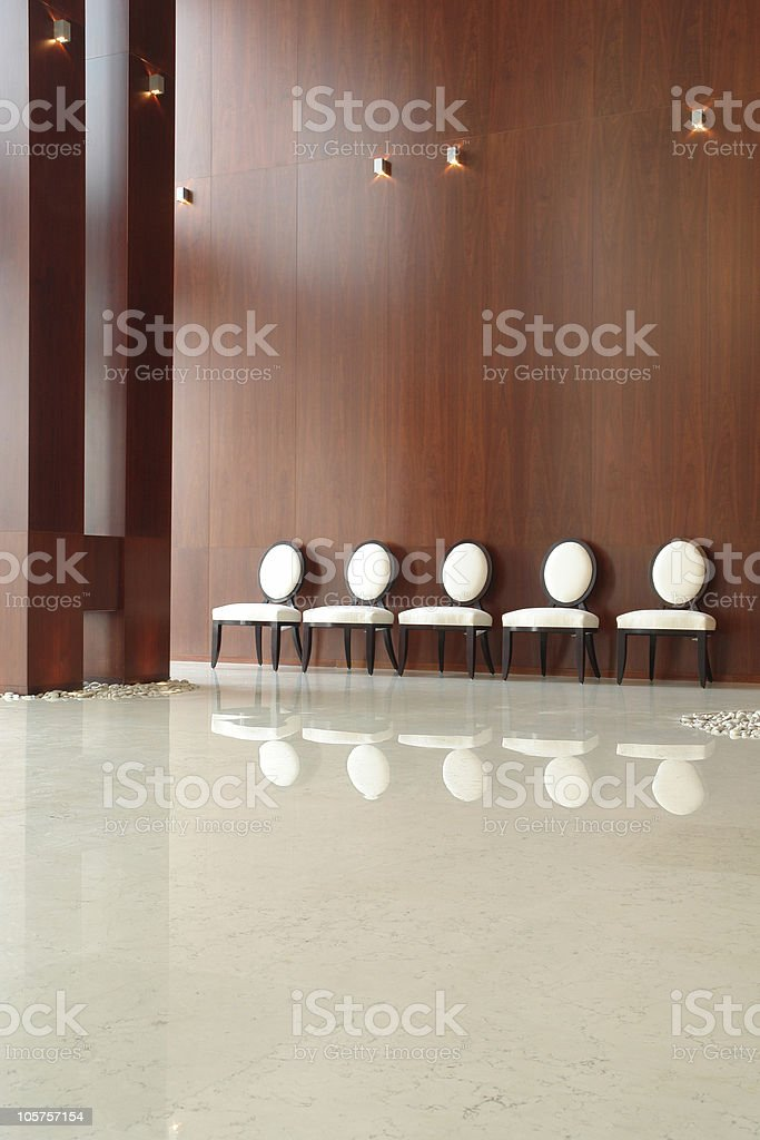 chairs in the hall royalty-free stock photo