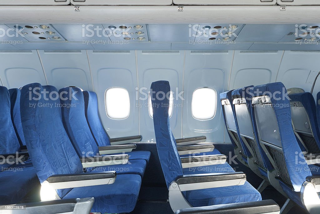 Chairs in the plane royalty-free stock photo