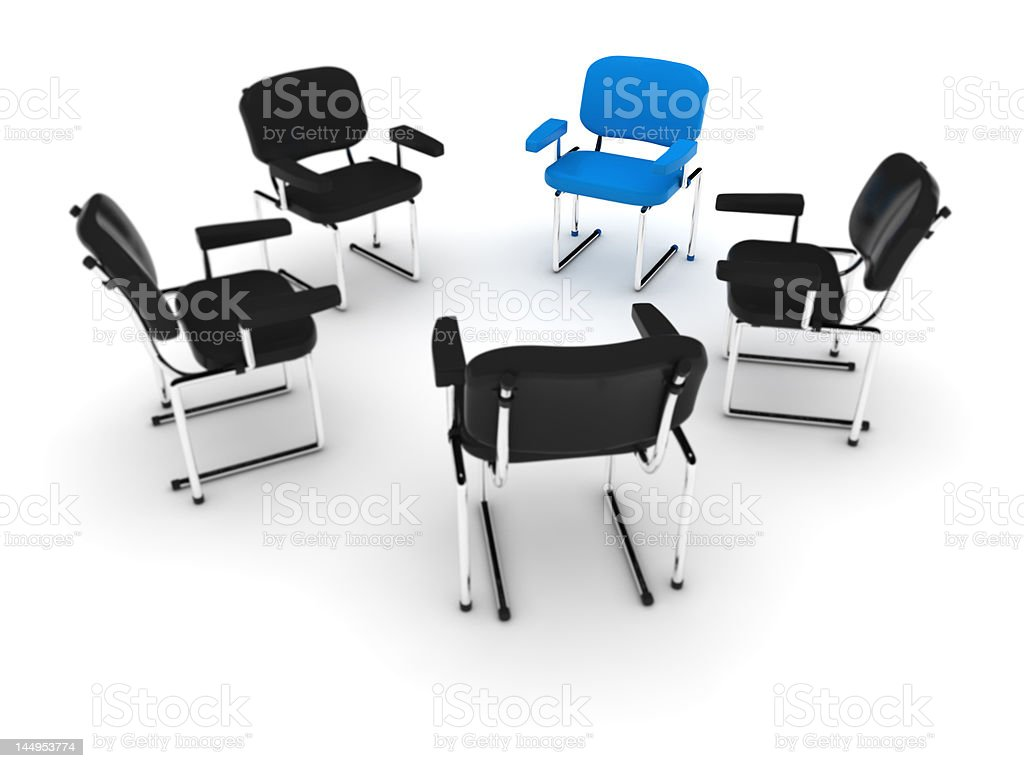 Chairs meeting stock photo