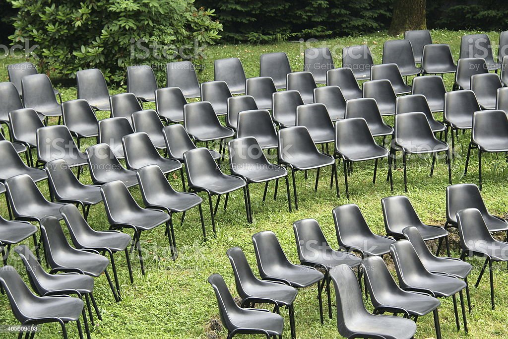 Chairs of show royalty-free stock photo
