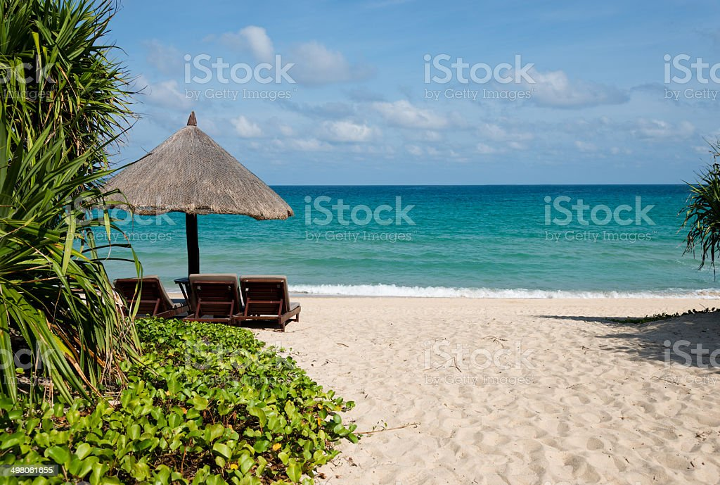 chairs on beach royalty-free stock photo