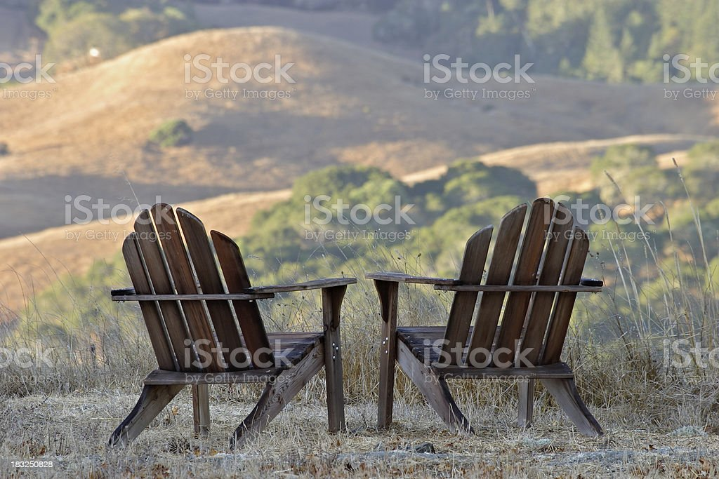 Chairs with a view. stock photo