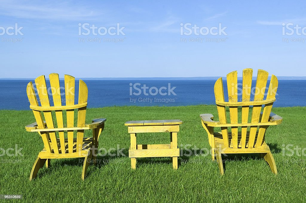 Chairs with a View royalty-free stock photo