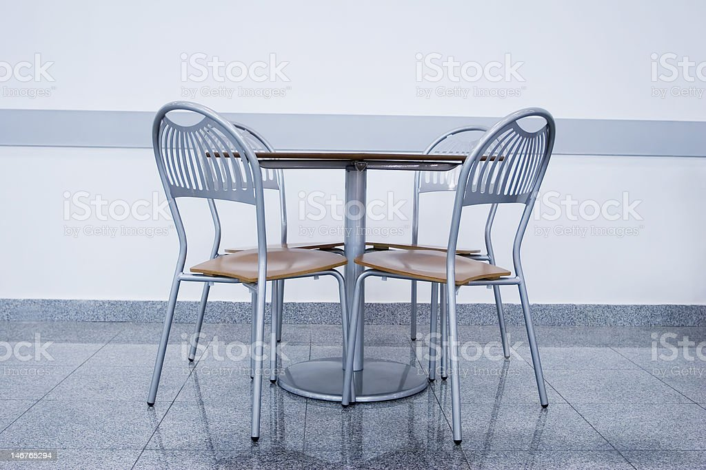 chairs with table royalty-free stock photo