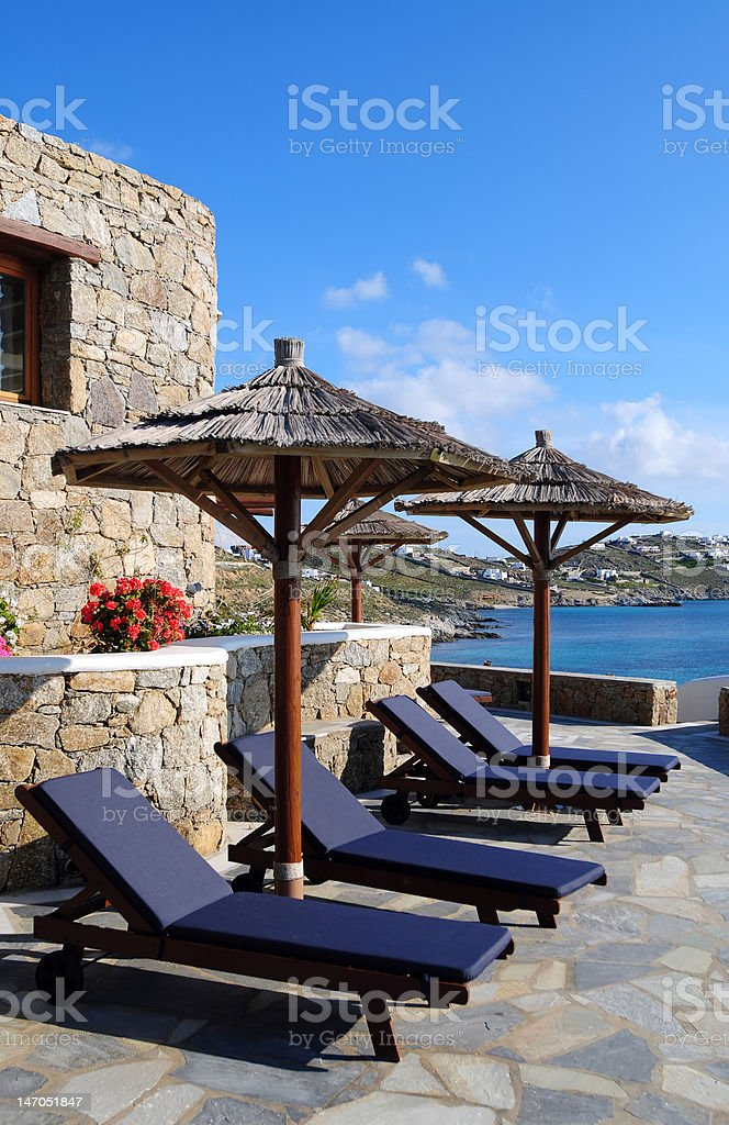 Chaise Longue and Summer Resort stock photo