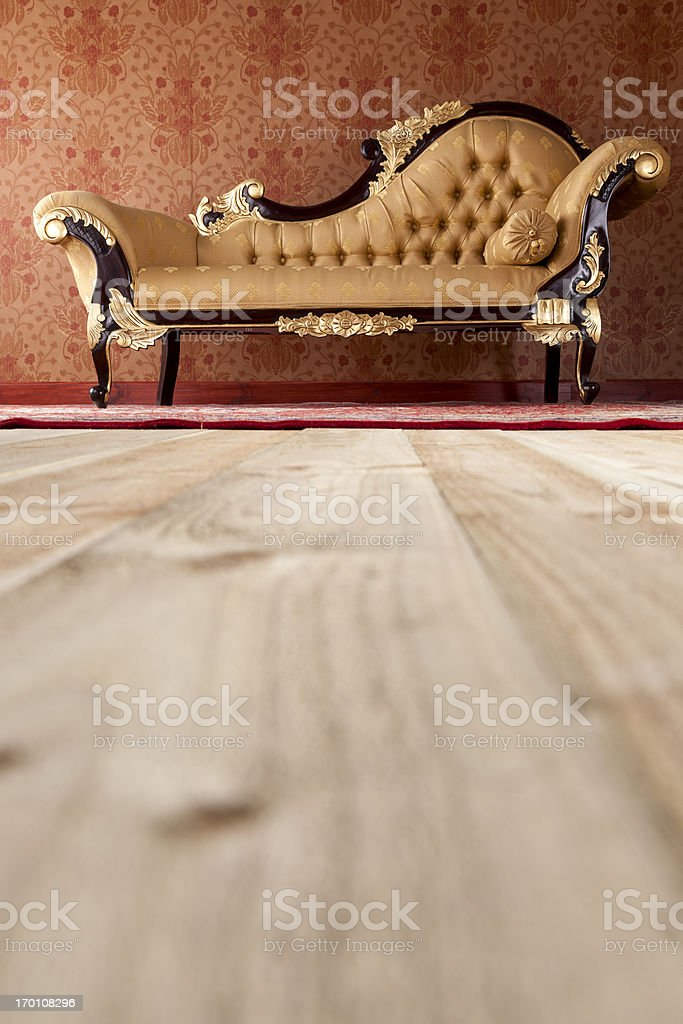 Chaise Longue In The Drawing Room royalty-free stock photo