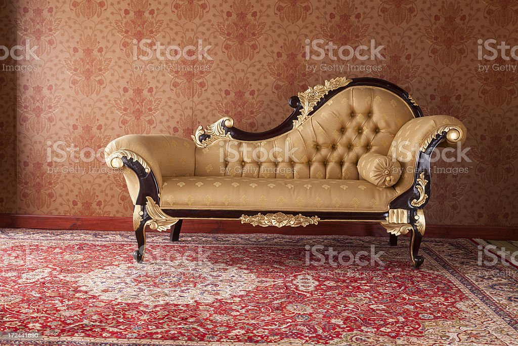 Chaise Longue In The Drawing Room stock photo