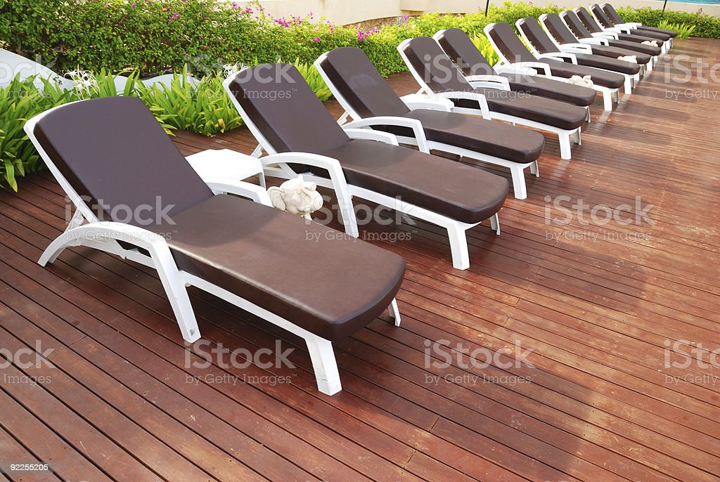 Chaise Lounge patio royalty-free stock photo