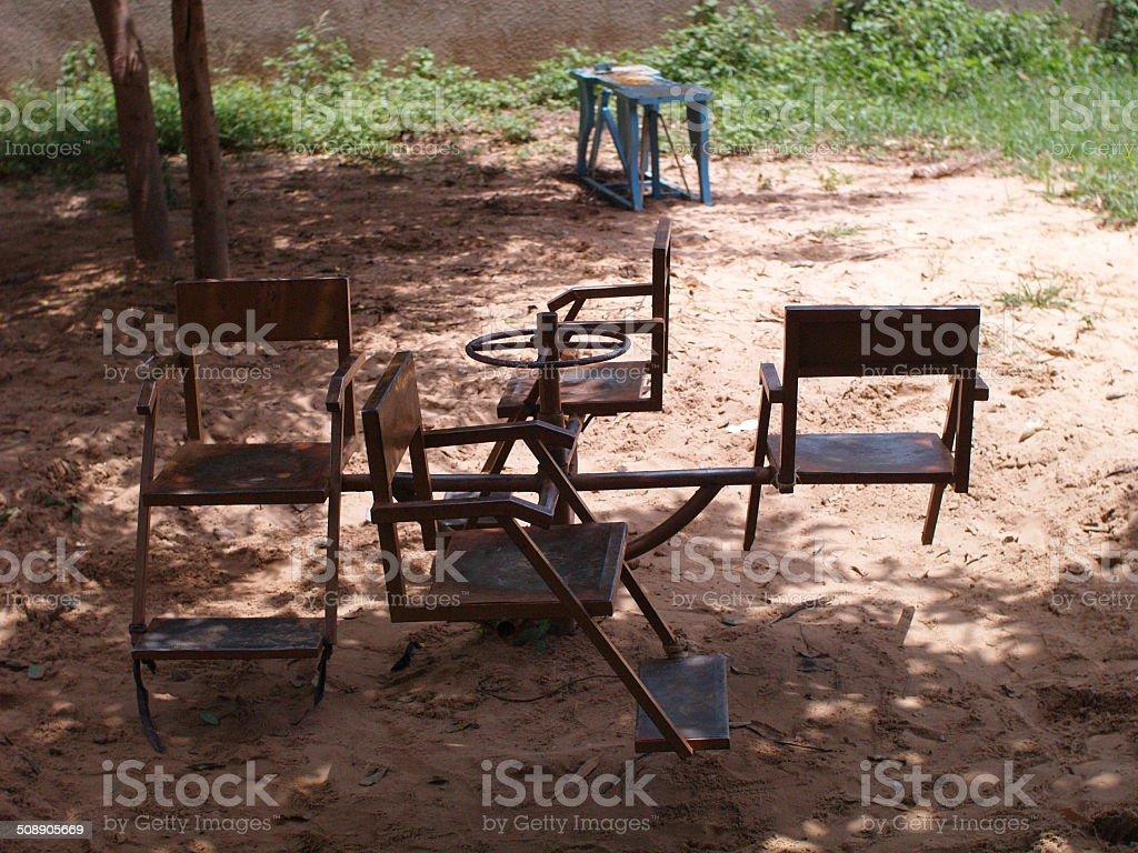 Chaises tournantes stock photo